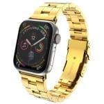 Curea Apple Watch 1/2/3 – 38 mm – Metal – Gold – A357 + Dispozitiv de ajustare CADOU
