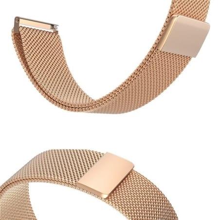 Curea Milanese Huawei Watch GT – 42mm – Oțel inoxidabil – Rose Gold – S866