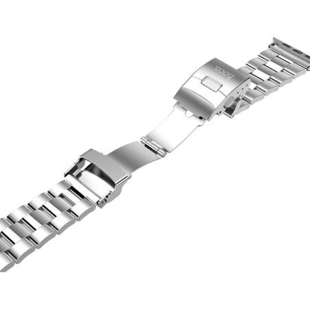 Curea Apple Watch 1/2/3 – 38 mm – Metal – Silver – A355 + Dispozitiv de ajustare CADOU