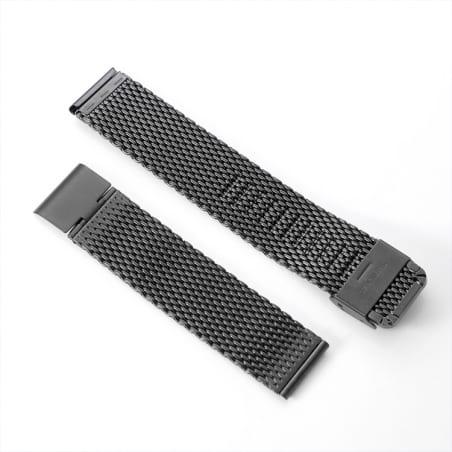 Curea Milanese Garmin Vivoactive 3 Music – Oțel inoxidabil – Black – S875