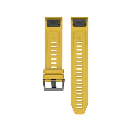 Curea Garmin Fenix 5 – 22mm – Silicon – Dark Yellow – G138