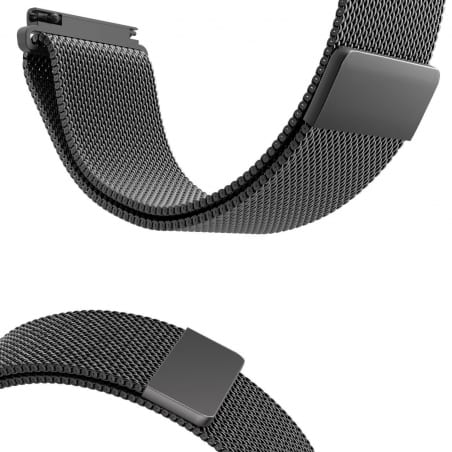 Curea Milanese Huawei Watch GT – 42mm – Oțel inoxidabil – Black – S863