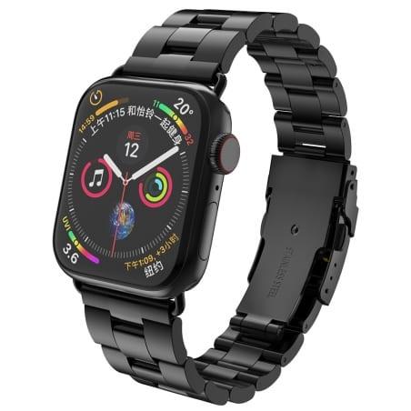 Curea Apple Watch 1/2/3 – 38 mm – Metal – Black – A356 + Dispozitiv de ajustare CADOU