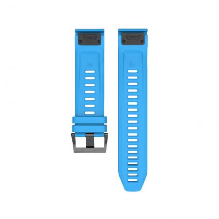Curea Garmin Fenix 5 – 22mm – Silicon – Blue Ciel – G133