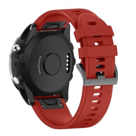 Curea Garmin Fenix 6X – 26mm – Silicon – Firebrick – G125