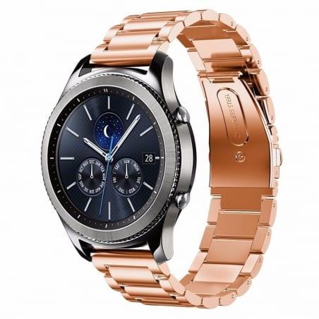 Curea Huawei Watch GT – 42mm – Metal – Rose Glod – G179