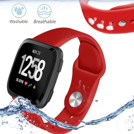 Curea Fitbit Versa – Silicon – Red – FB004