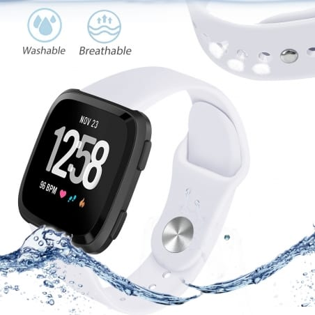 Curea Fitbit Versa – Silicon – S – White – FB133