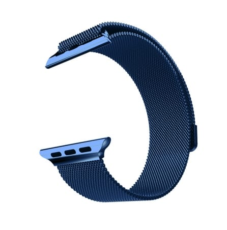 Curea Milanese Apple Watch 1/2/3 – 42 mm – Oțel inoxidabil – Metalic Blue – A349