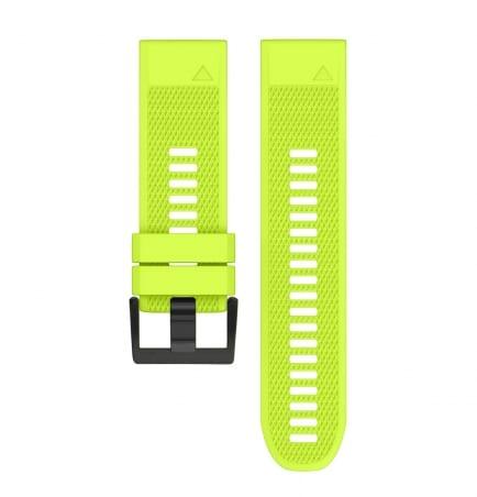 Curea Garmin Fenix 5X Plus – 26mm – Silicon – Yellow Green – G112