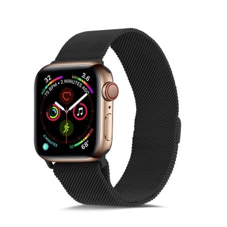 Curea Milanese Apple Watch 1/2/3 – 42 mm – Oțel inoxidabil – Black – A346