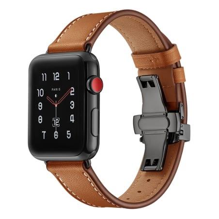 Curea Apple Watch 1 / 2 / 3 – 38 mm – Piele – Medium Brown – A314