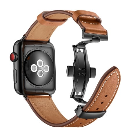 Curea Apple Watch 1 / 2 / 3 – 42 mm – Piele – Medium Brown – A308
