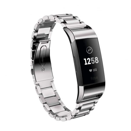 Curea Fitbit Charge 3  – Metal – Silver – FB090