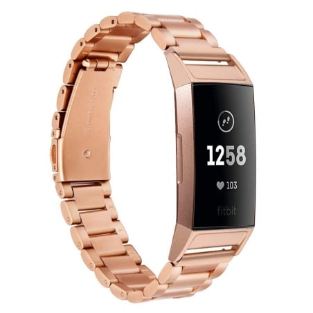 Curea Fitbit Charge 3  – Metal – Rose Gold – FB093