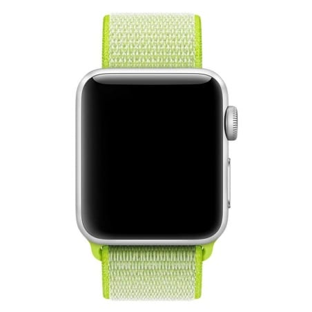 Curea Apple Watch 1/2/3 – 42 mm – Nylon – Greeny Yellow – A259