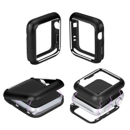 Husă de protecție Apple Watch 1/2/3 38mm – Metal – Black – A398