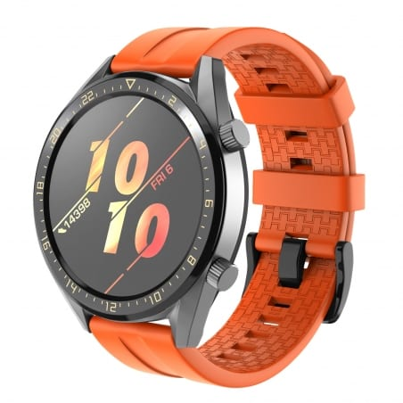 Curea Huawei Watch GT Active 46mm – Silicon – Orange – H0036