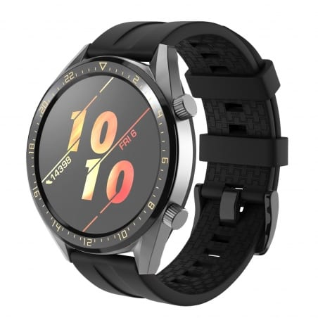 Curea Huawei Watch GT Active 46mm – Silicon – Black – H0033