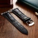 Curea Apple Watch 1 / 2 / 3 – 38 mm – Piele – Black – A424