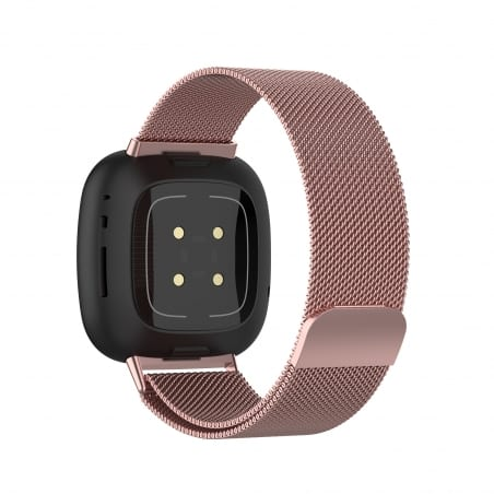 Curea Milanese Fitbit Sense – Oțel inoxidabil – Rose Pink – FB152