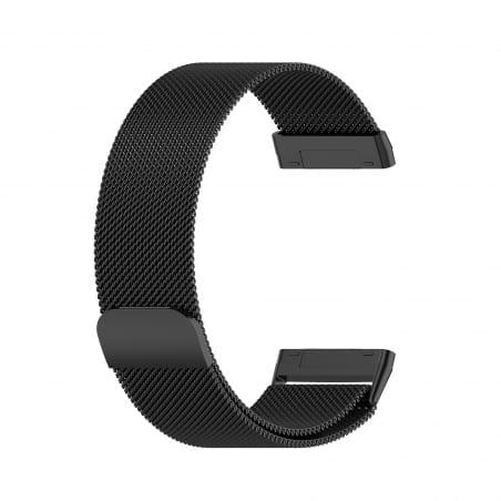 Curea Milanese Fitbit Sense – Oțel inoxidabil – Black – FB151